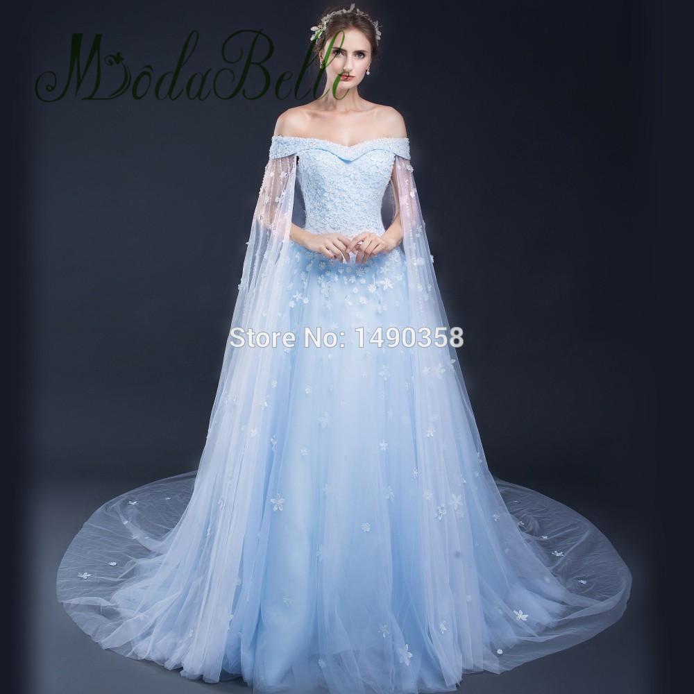 blue wedding dresses photo - 1