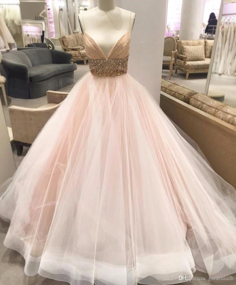 blush wedding dresses lazaro photo - 1