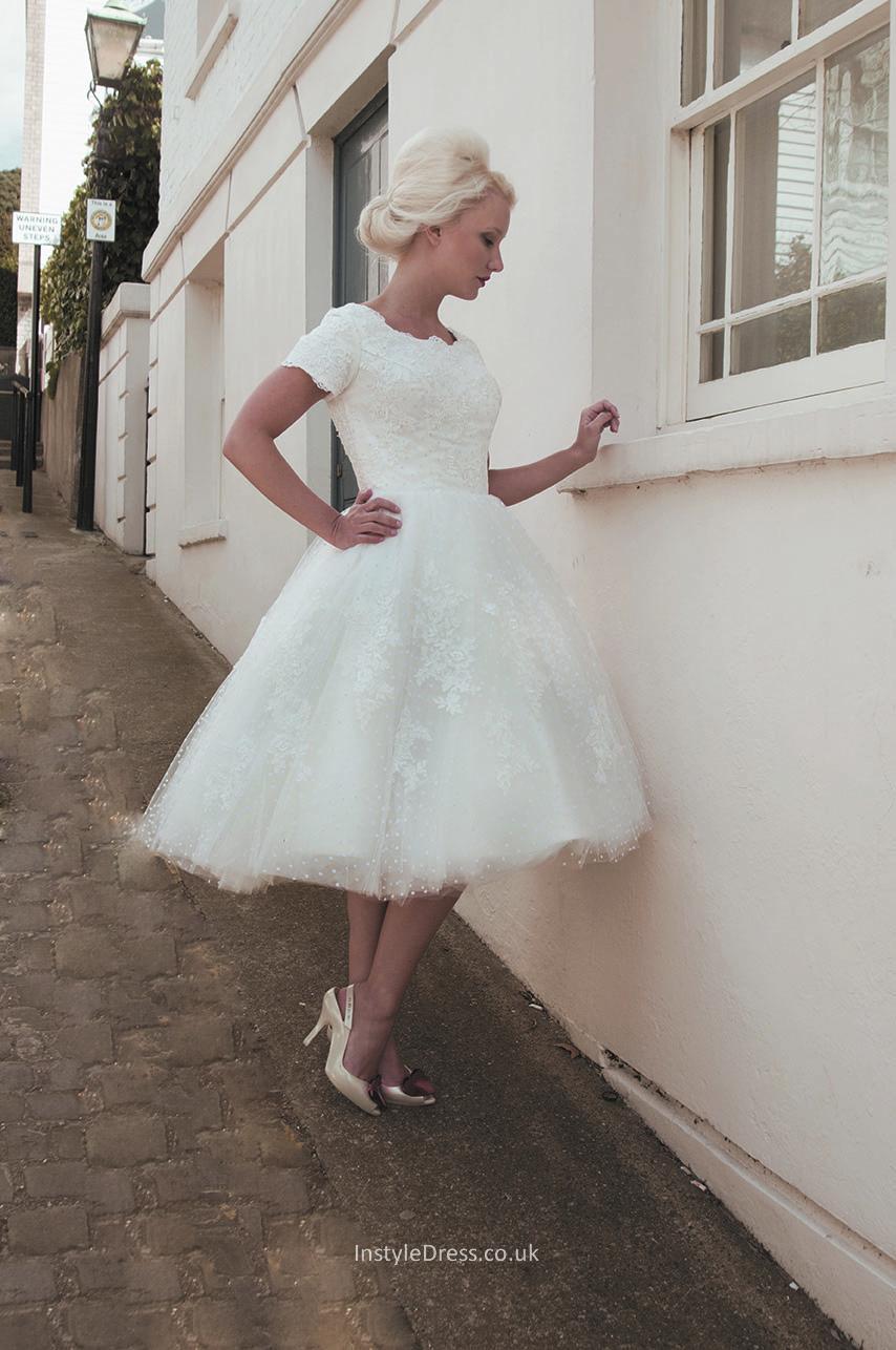 boat neck wedding dresses photo - 1