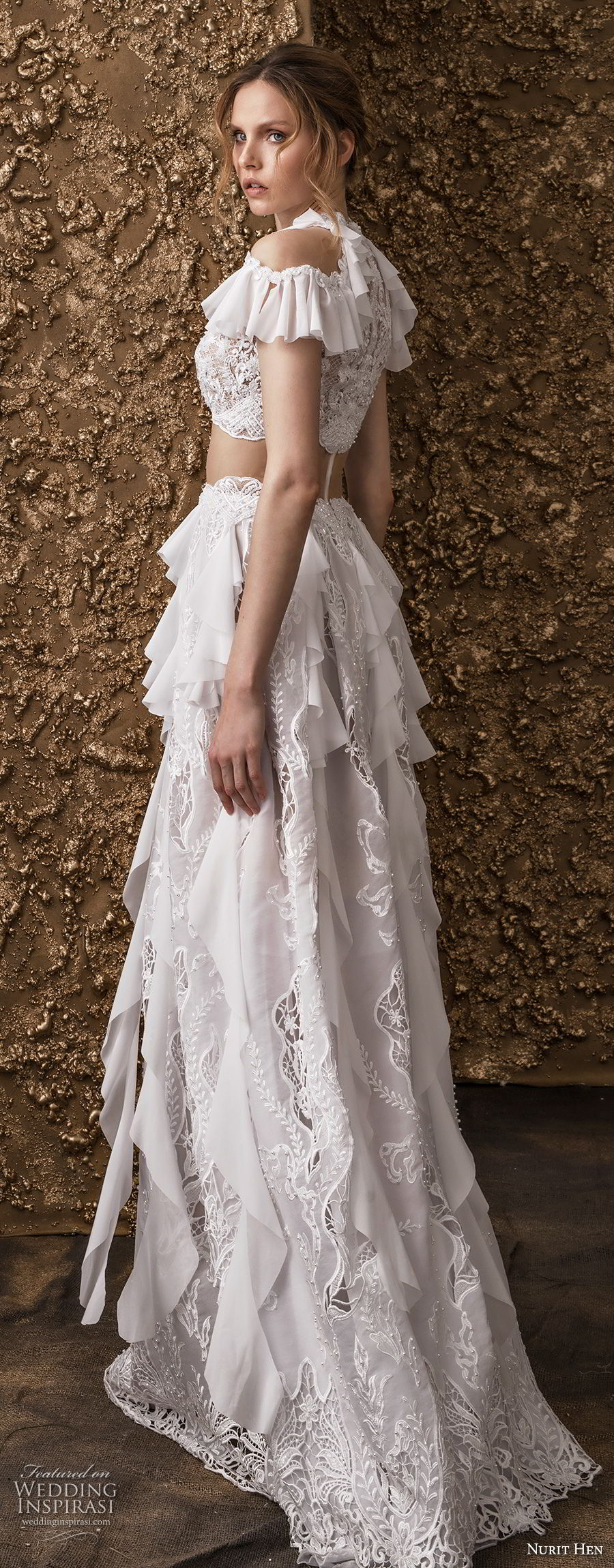 bohemian a line wedding dresses photo - 1