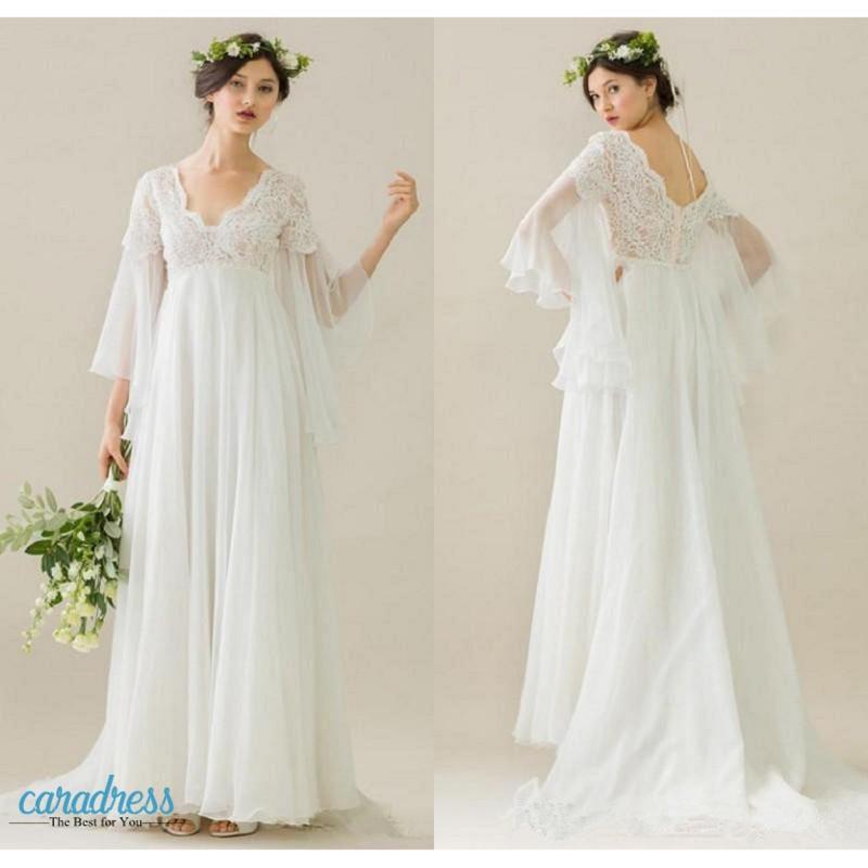 bohemian maternity wedding dresses photo - 1