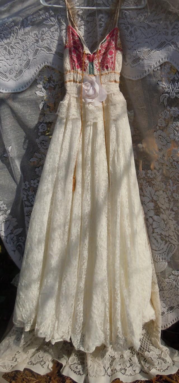 bohemian wedding dresses etsy photo - 1