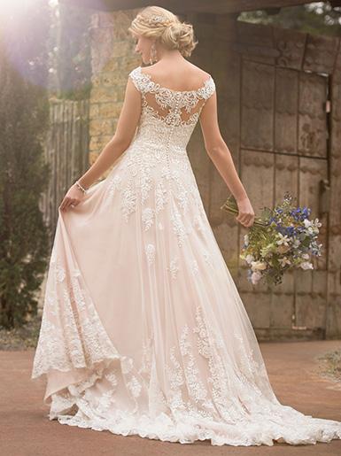bohemian wedding dresses plus size photo - 1