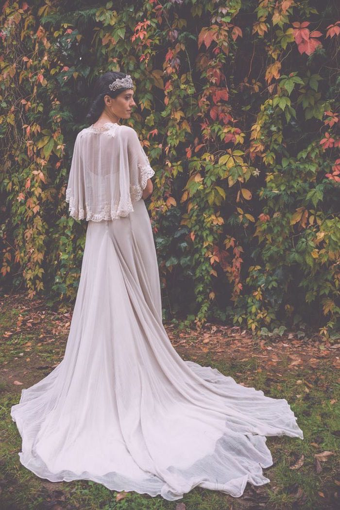bohemian wedding dresses with sleeves photo - 1
