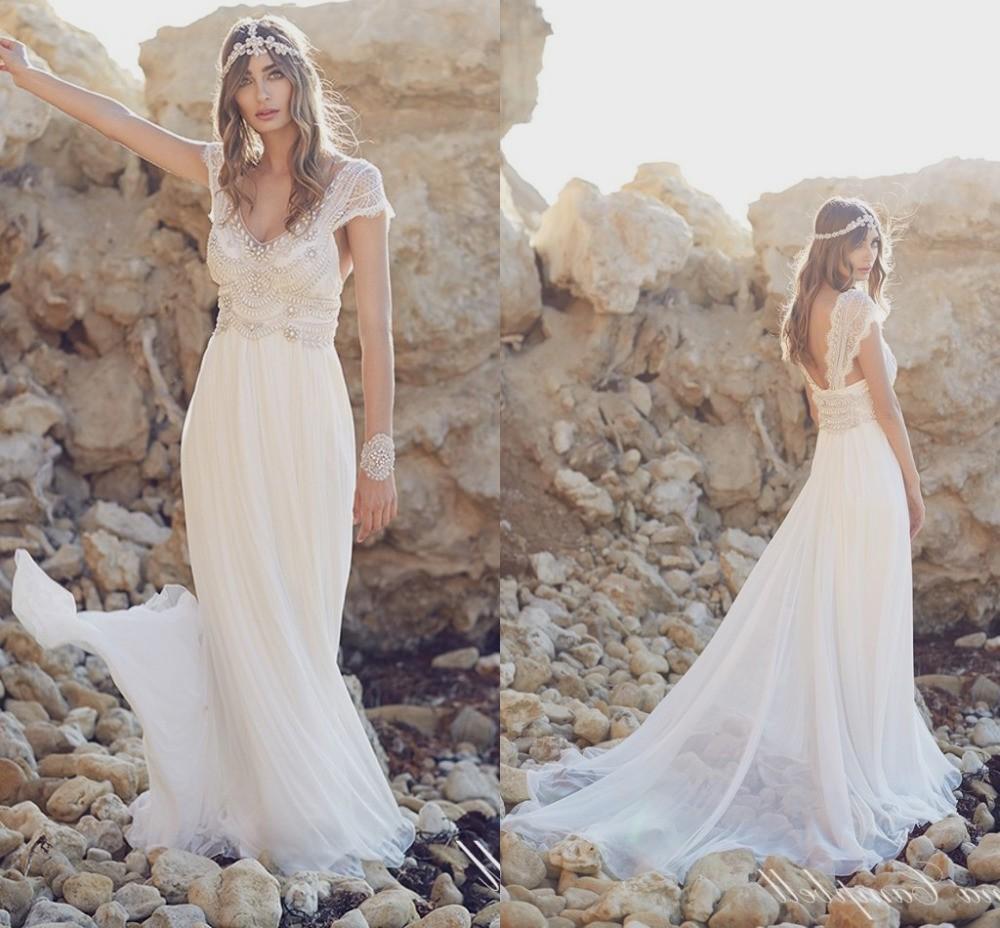 boho beach wedding dresses photo - 1