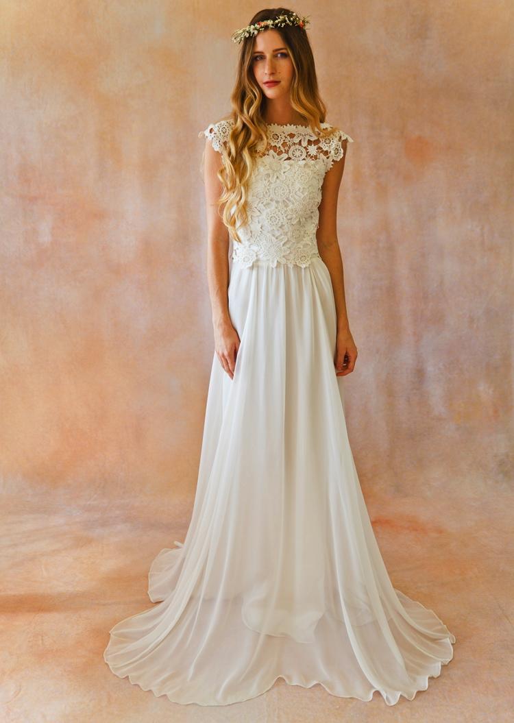 boho plus size wedding dresses photo - 1