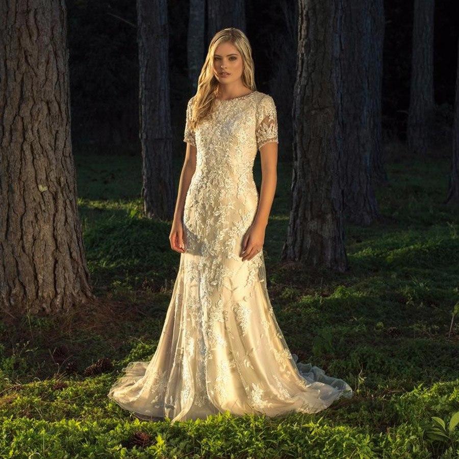 boho short wedding dresses photo - 1