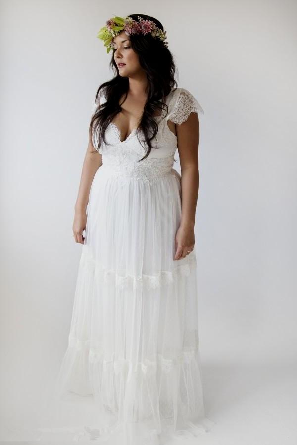 boho wedding dresses plus size photo - 1