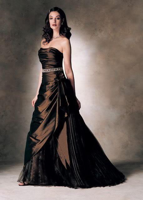 brown wedding dresses photo - 1