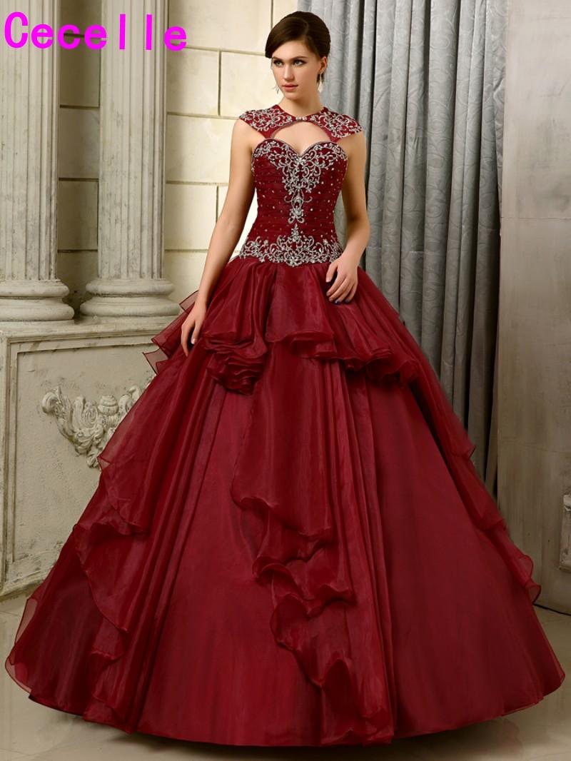 burgundy wedding dresses gowns new photo - 1