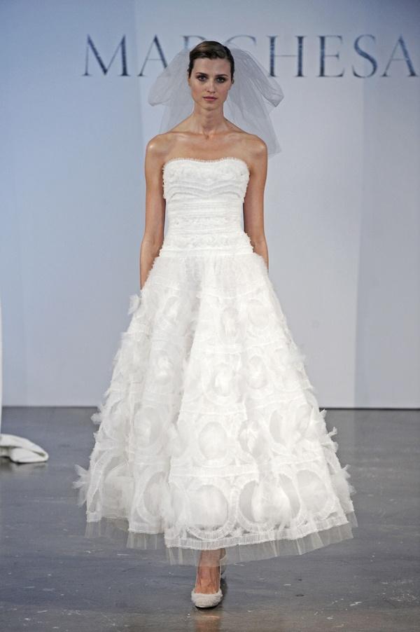 calf length wedding dresses photo - 1