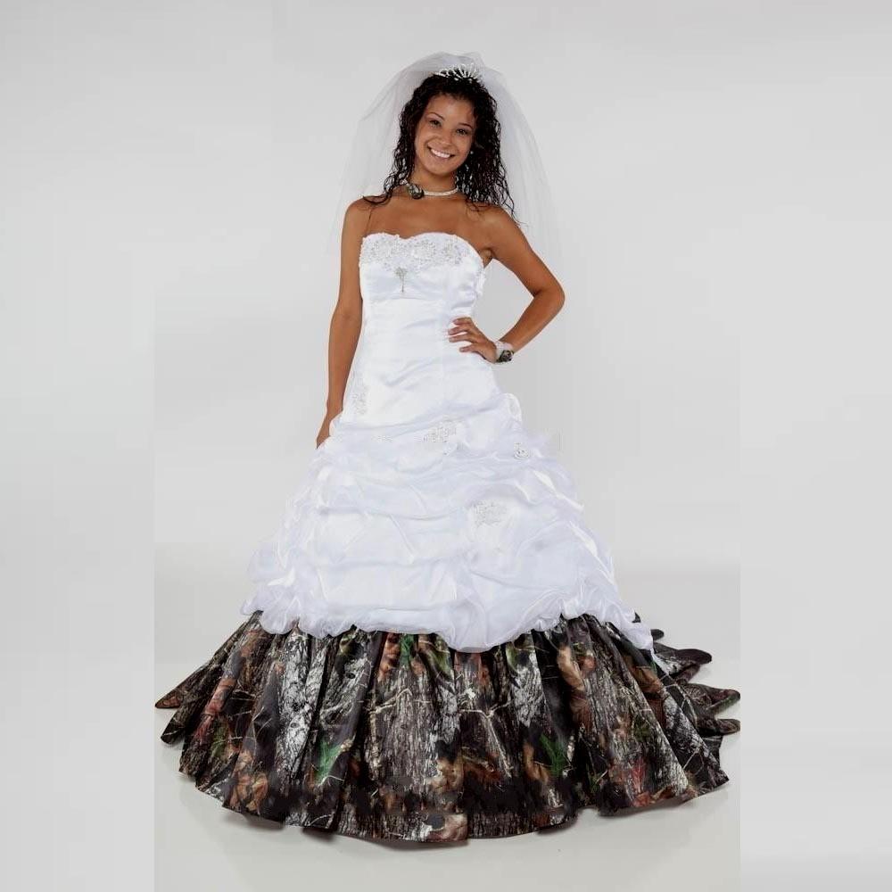 camo wedding dresses cheap photo - 1