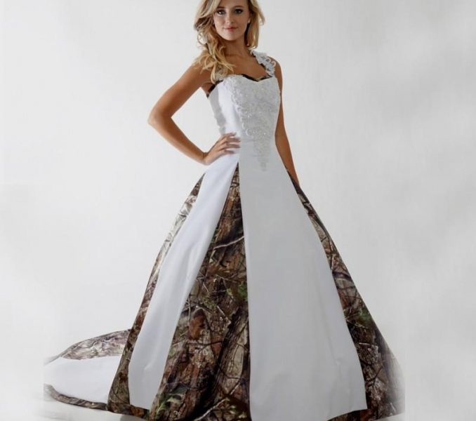 camouflage wedding dresses for sale photo - 1