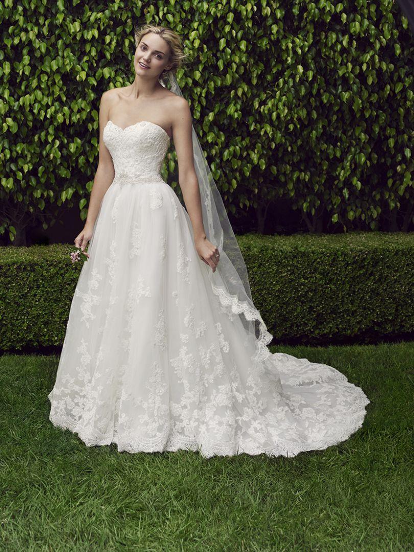 casablanca lace wedding dresses photo - 1