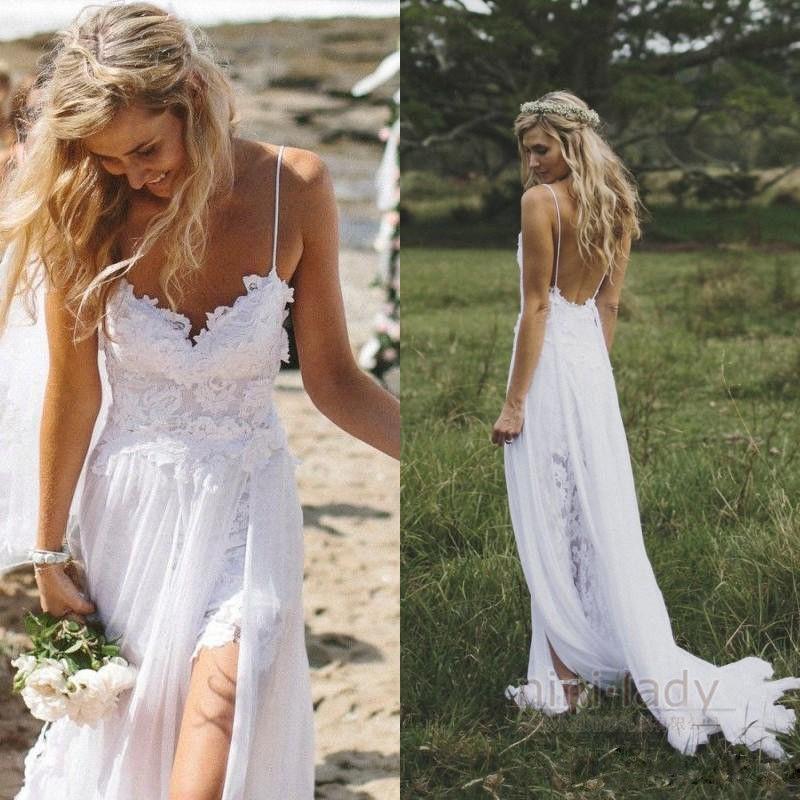 casual beach wedding dresses photo - 1