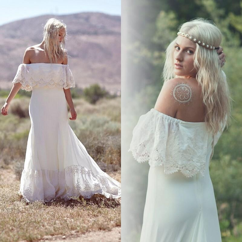 casual bohemian wedding dresses photo - 1