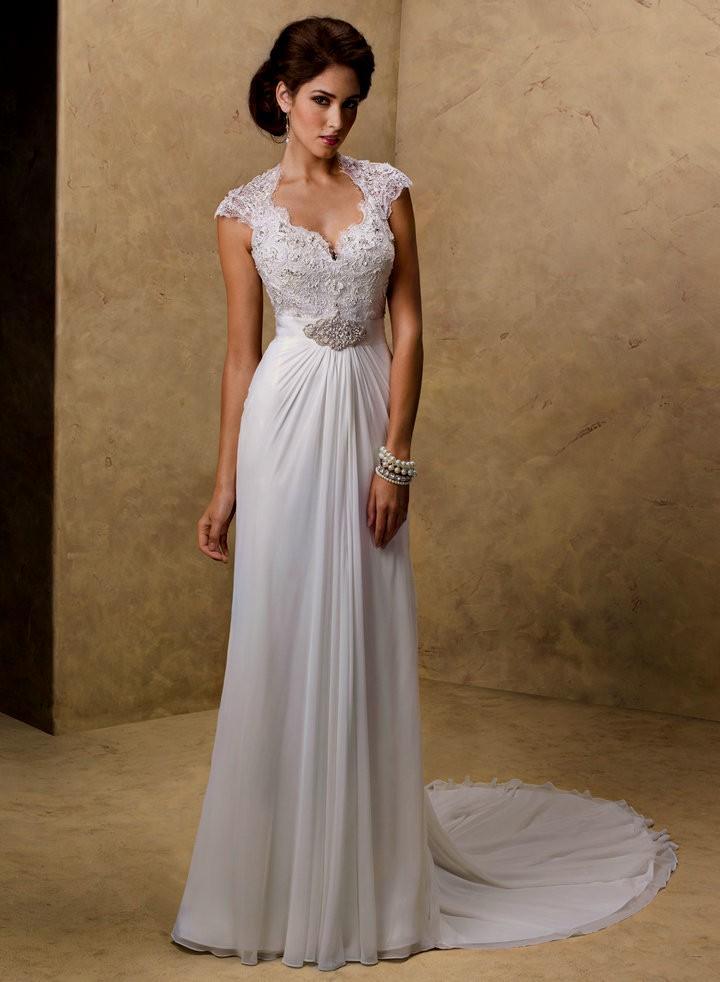 casual long sleeve wedding dresses photo - 1