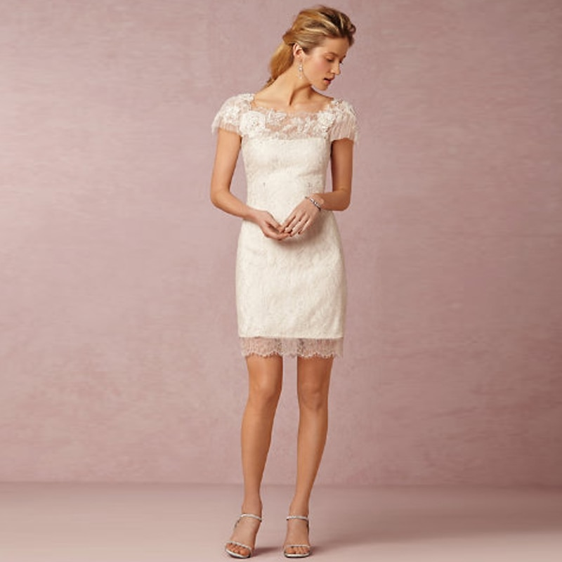 casual plus size beach wedding dresses photo - 1