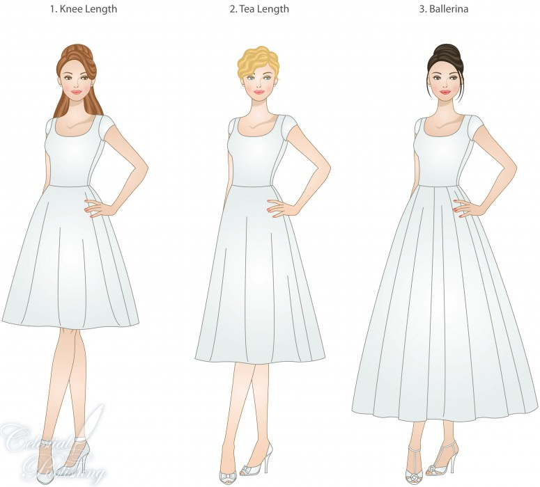 casual tea length wedding dresses photo - 1