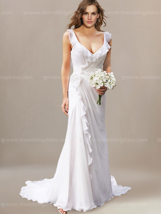 casual wedding dresses for older brides photo - 1
