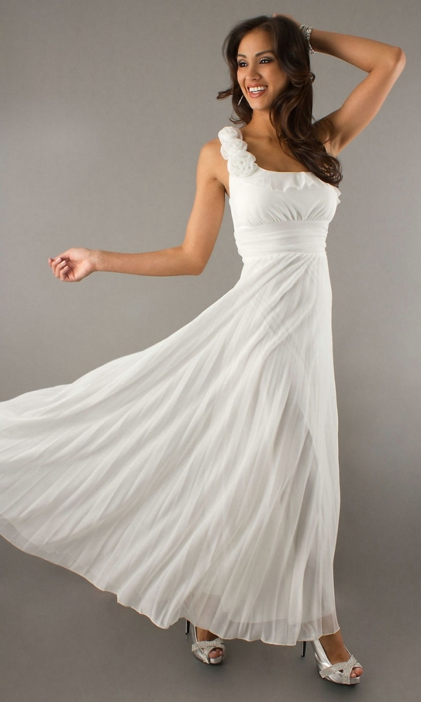 casual wedding dresses for second marriages photo - 1