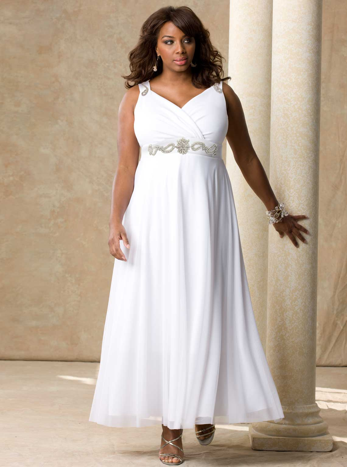 casual wedding dresses plus size photo - 1