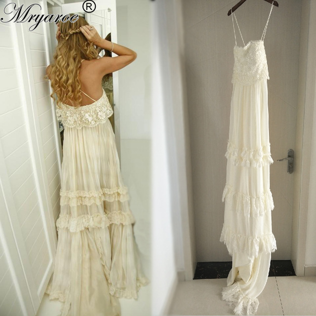 casual wedding dresses with sleeves photo - 1