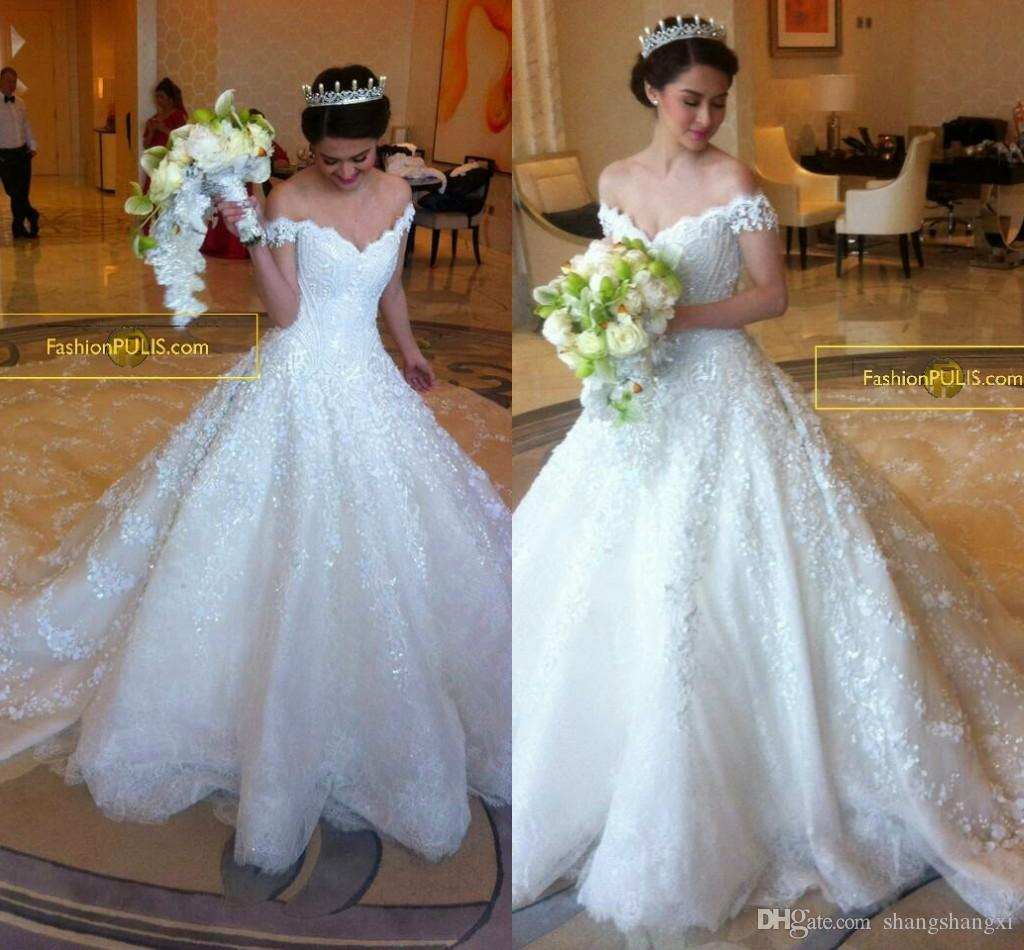 cathedral length wedding dresses photo - 1