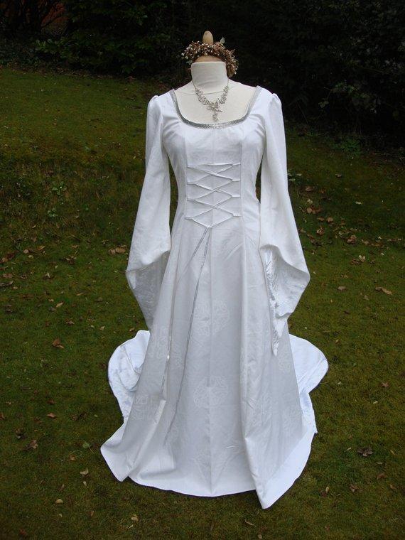 celtic style wedding dresses photo - 1