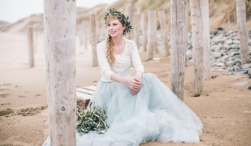 celtic wedding dresses photo - 1