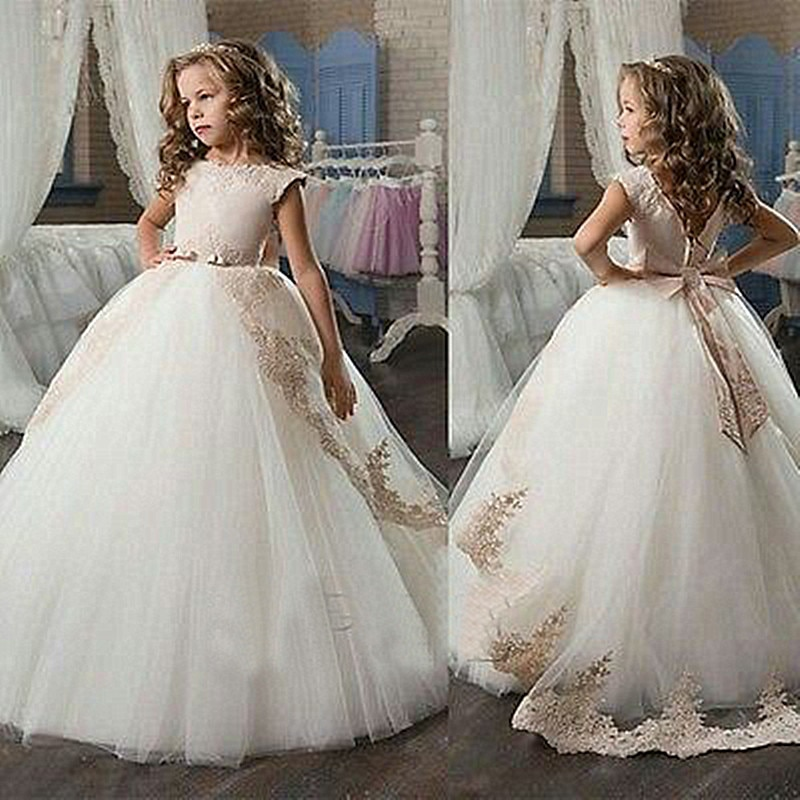 champagne ball gown wedding dresses photo - 1