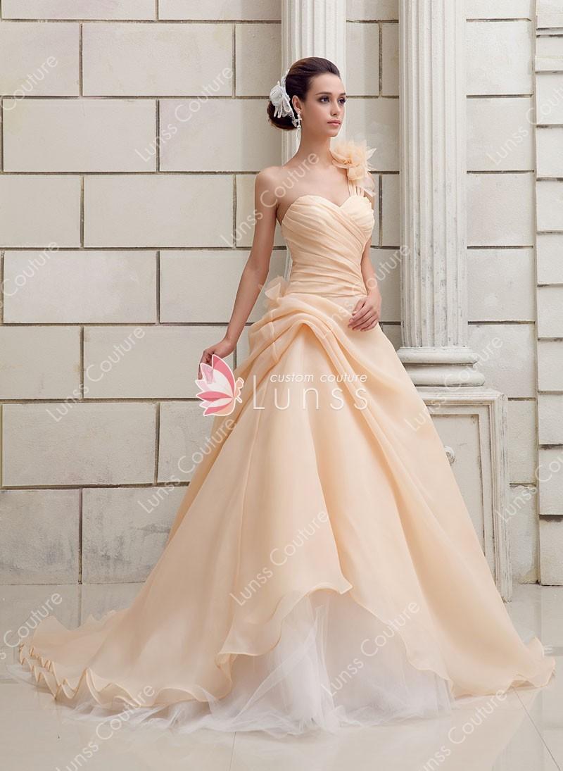 champagne colored plus size wedding dresses photo - 1