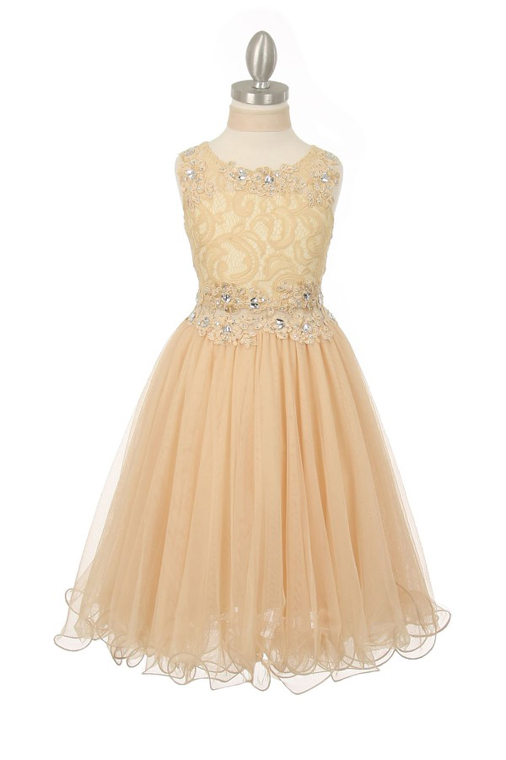 champagne colored wedding dresses photo - 1