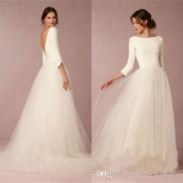 cheap aline wedding dresses photo - 1