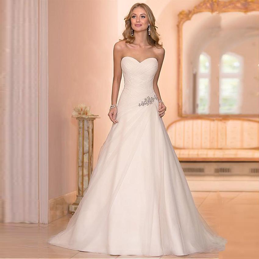 cheap beaded wedding dresses photo - 1