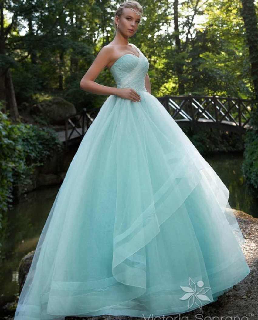 cheap blue wedding dresses photo - 1