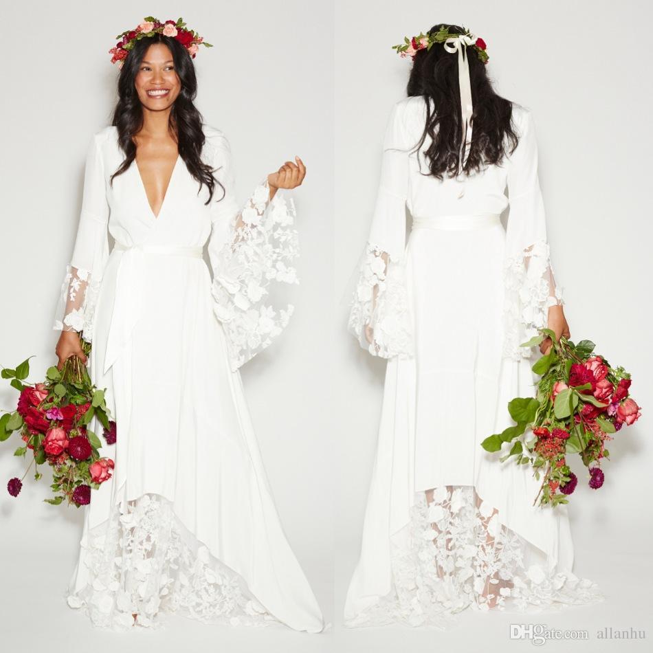 cheap bohemian wedding dresses photo - 1