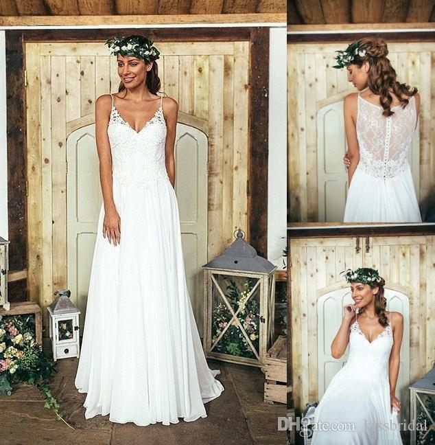 cheap boho wedding dresses photo - 1
