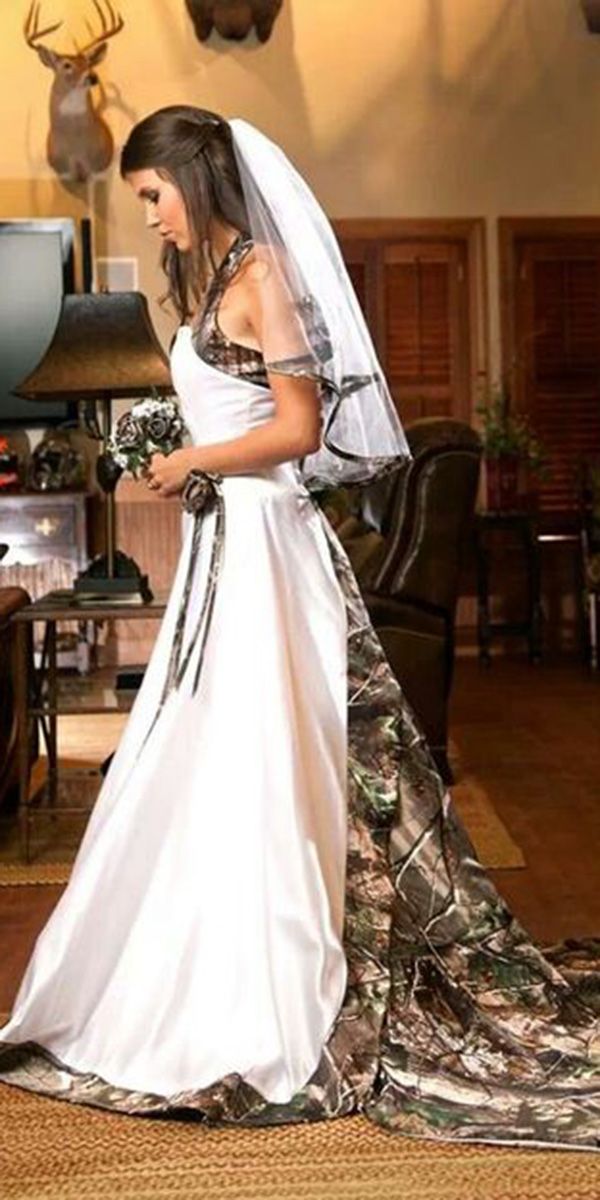 cheap camo wedding dresses for sale photo - 1