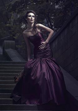 cheap gothic wedding dresses photo - 1