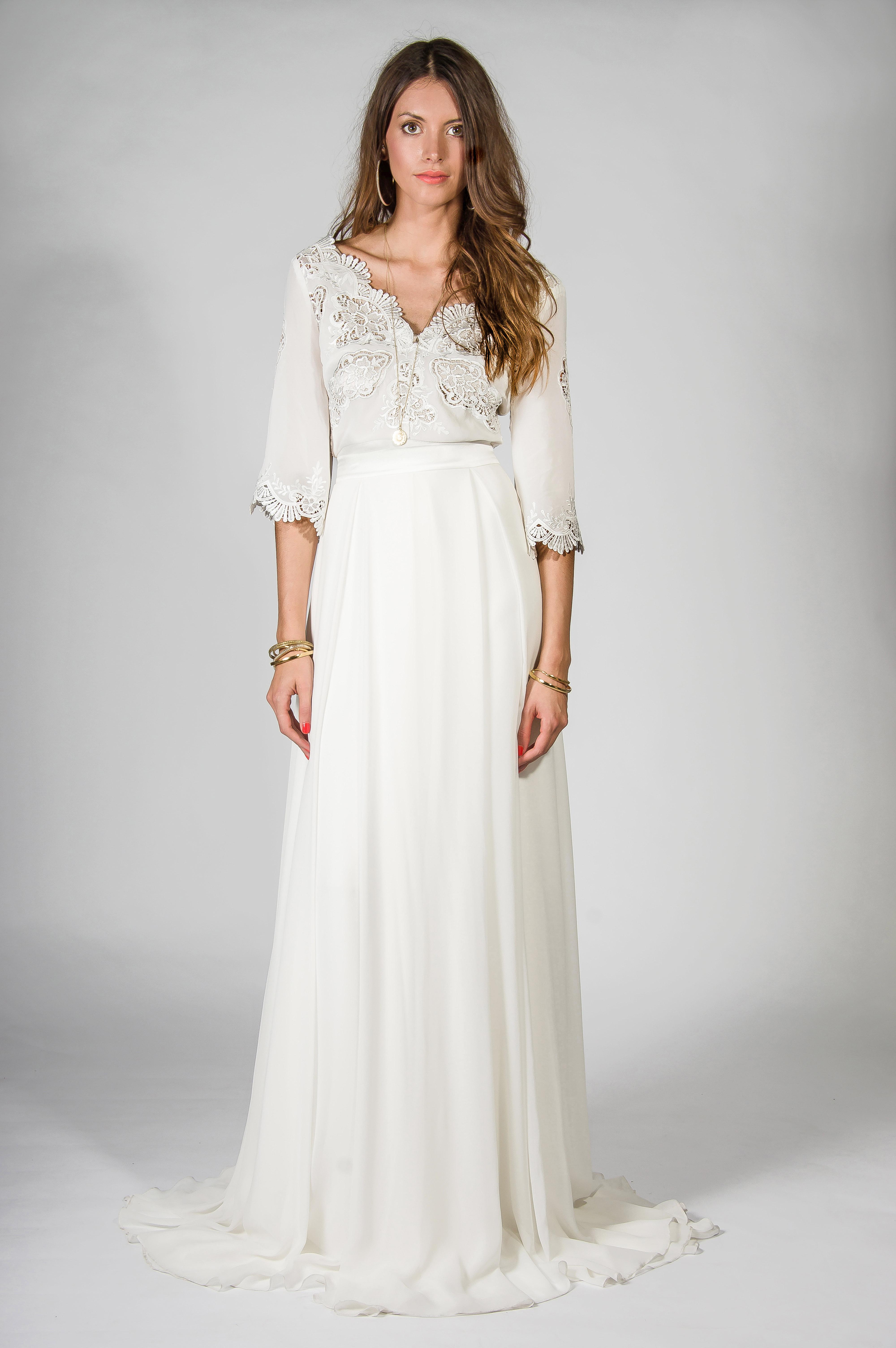 cheap hippie wedding dresses photo - 1