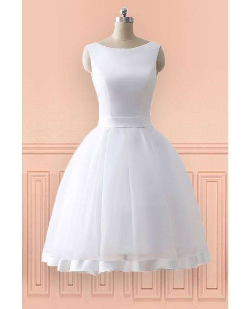 cheap knee length wedding dresses photo - 1