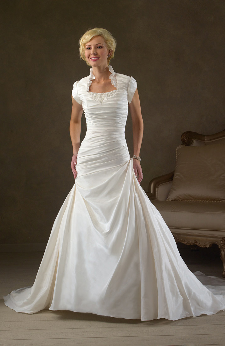 cheap modest wedding dresses photo - 1