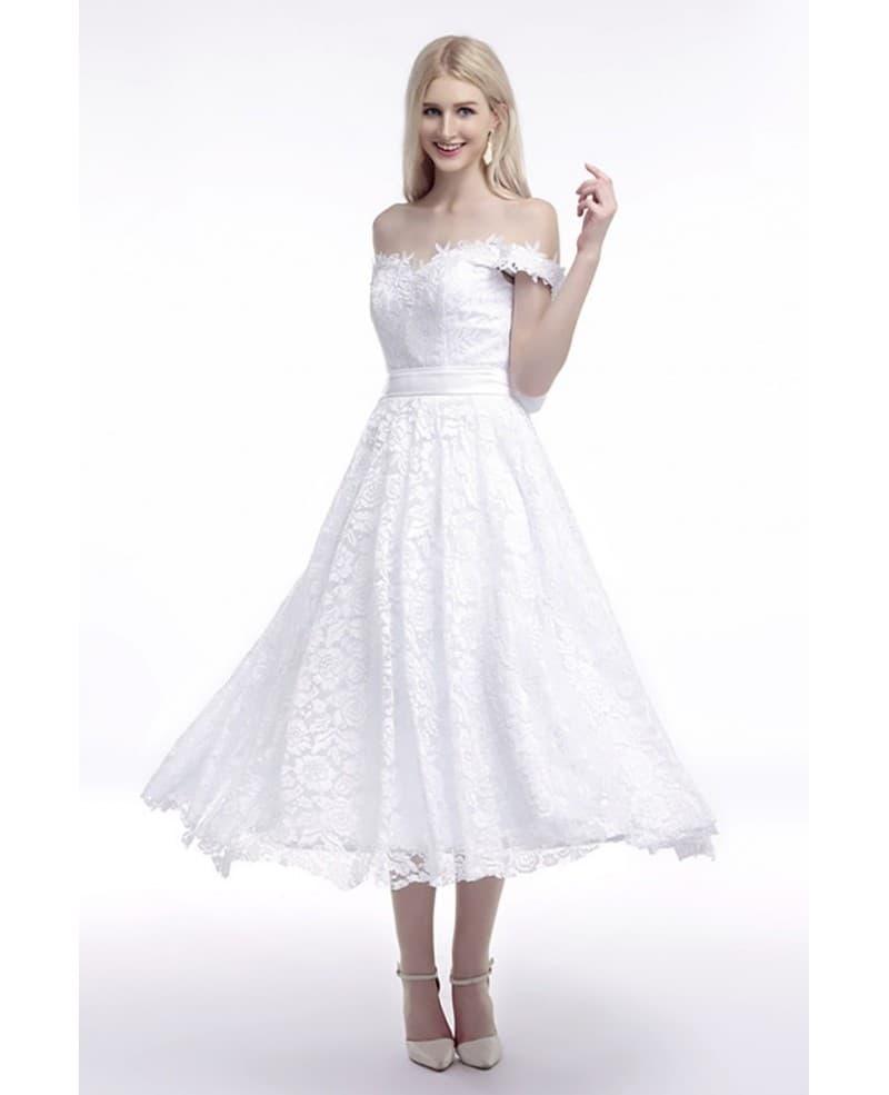 cheap off the shoulder wedding dresses photo - 1