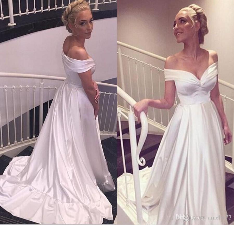 cheap off white wedding dresses photo - 1
