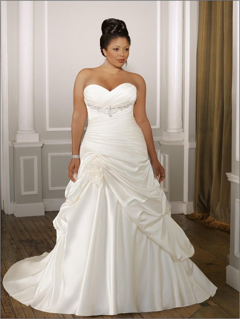 cheap plus size wedding dresses under 100 photo - 1