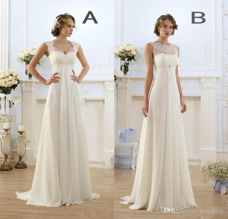 cheap pregnant wedding dresses photo - 1
