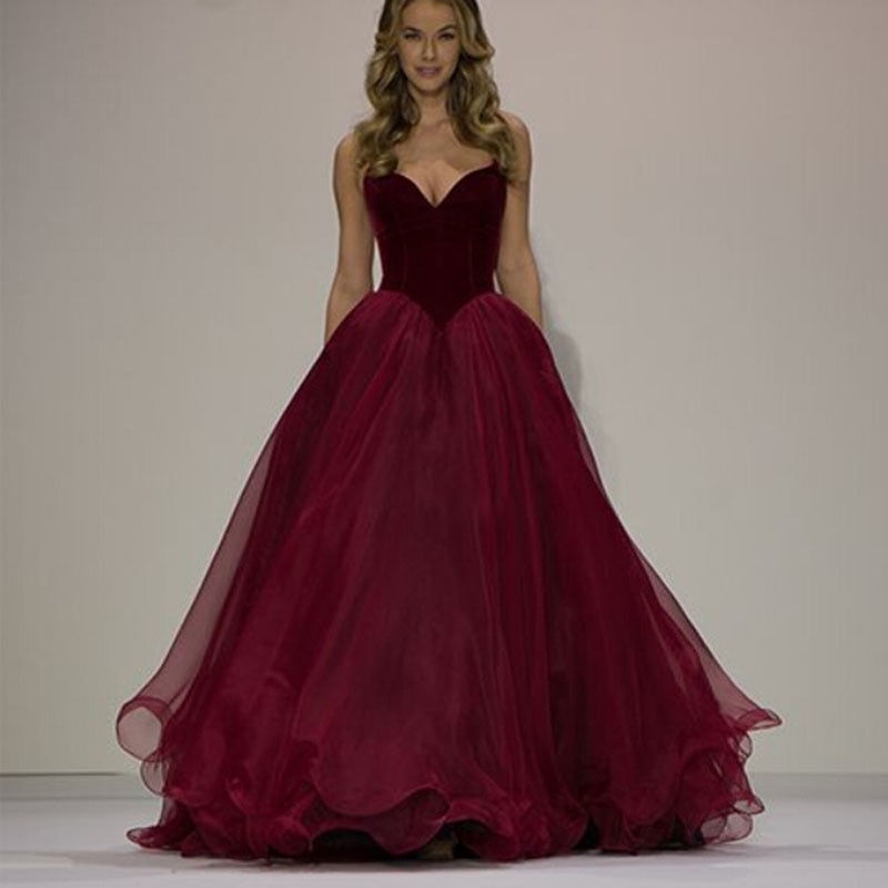 cheap red and black wedding dresses photo - 1