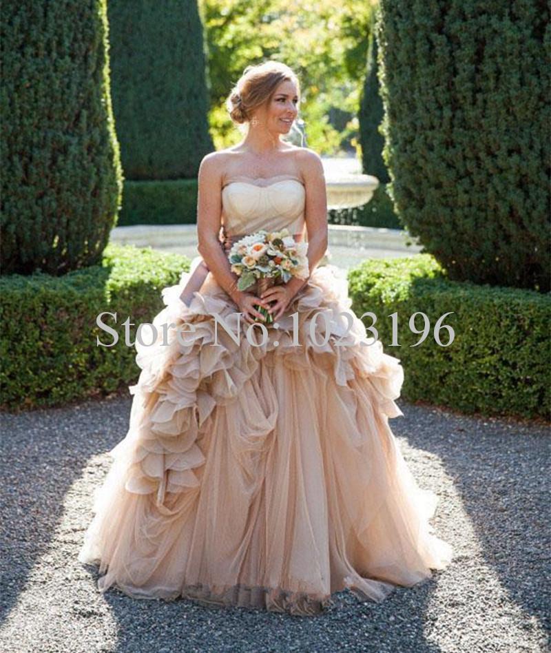 cheap rustic wedding dresses photo - 1