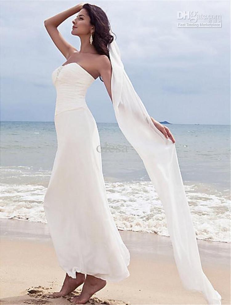 cheap wedding dresses for beach wedding photo - 1
